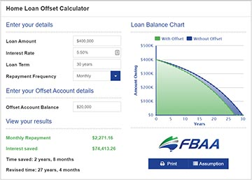 Home Loan Offset Calculator